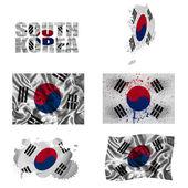 South Korean flag collage — Stock Photo