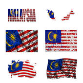 Malaysian flag collage — Stock Photo