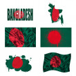 Bangladeshi flag collage — Stock Photo