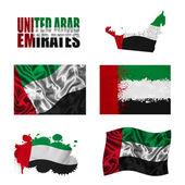 Collage di bandiera degli emirati arabi uniti — Foto Stock