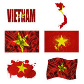 Vietnamese flag collage — Foto de Stock