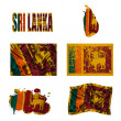 Sri Lanka flag collage - Stock Photo