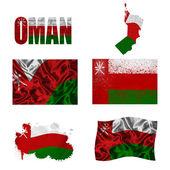 Omani flag collage — Stock Photo