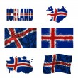 Royalty-Free Stock Photo: Icelandic flag collage