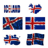 Icelandic flag collage — Stock Photo