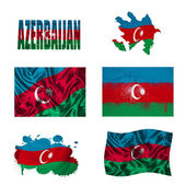 Azerbaijani flag collage — Stock Photo