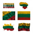 Lithuanian flag collage — Stock Photo