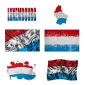 Luxembourg flag collage — Stock Photo