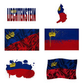 Liechtenstein flag collage — Stock Photo