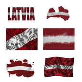 Latvian flag collage — Stock Photo