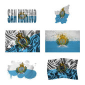 San Marino flag collage — Stock Photo