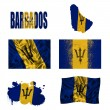 Barbados flag collage — Stock Photo