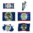 Belize flag collage — Stock Photo #18025503
