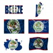 Stock Photo: Belize flag collage