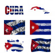 Cuban flag collage — Stock Photo
