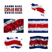 Costa Rica flag collage — Stock Photo