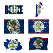 Belize flag collage — Stock Photo
