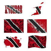 Trinidad and Tobago flag collage — Stock Photo