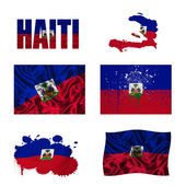 Haitian flag collage — Stock Photo