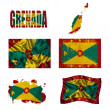 Stock Photo: Grenada? flag collage