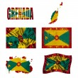 Grenada? flag collage — Stock Photo