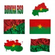 Stock Photo: BurkinFaso flag collage