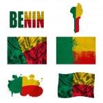 Постер, плакат: Benin flag collage