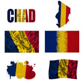 Chad flag collage — Stock Photo