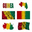 Guinea flag collage — Stock Photo