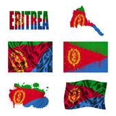 Eritrea flag collage — Stock Photo