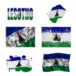 Lesotho flag collage — Stock Photo