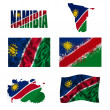 Stock Photo: Namibiflag collage