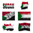 Sudan flag collage — Stock Photo #18566485