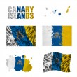 Royalty-Free Stock Photo: Canary Islands flag collage
