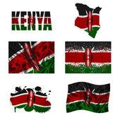 Kenianische flagge collage — Stockfoto