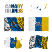 Canary Islands flag collage — Stock Photo