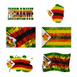 Zimbabwe flag collage - Stock Photo