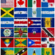 Stock Photo: Painted Flags of North America