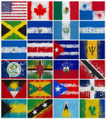 Painted Flags of North America — Stock Photo