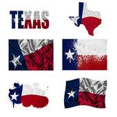 Texas flag collage — Stock Photo