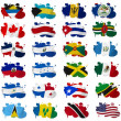 North America countries flag blots — Stock Photo