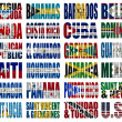 North Americcountries flag words — Stock Photo #19142453