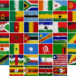 Painted Flags of Africa — Stock Photo