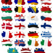 Europe countries flag blots Part 1 — Stock Photo