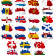 Royalty-Free Stock Photo: Europe countries flag blots Part 2