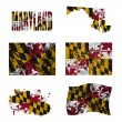 Maryland flag collage - Stock Photo