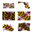 Royalty-Free Stock Photo: Maryland flag collage