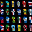 National flag fists of North America — Stock Photo
