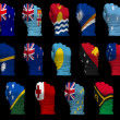 National flag fists of Oceania — Stock Photo