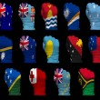 Stock Photo: National flag fists of Oceania